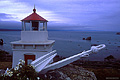 Another view of this small lighthouse. I had to do some creative tripod placement in order to get this perspective. Trinidad, CA. 'Nikon F100 35mm SLR' (Click for larger view)