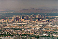 This view of the city of Phoenix was taken from Dobbin's lookout at the top of 'South Mountain Park'. Phoenix, AZ. 'Nikon F100 35mm SLR' (Click for larger view)