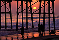 Pier at sunset. Oceanside, CA 'Nikon F100 35mm SLR' (Click for larger view)